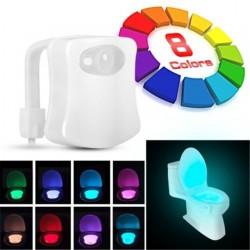 ЛЕД LED лампа за тоалетна чиния или баня с 8 сменящи се цвята и сензор за движение