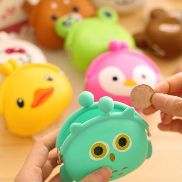 Мини силиконово портмоне монетник с формата на сладки животни в 20 различни вида, жаба, панда, котка, заек