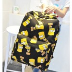 Ученическа раница чанта Bart Simpson цветен принт, подходяща за момчета и момичета