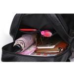 Дамска раница чанта от изкуствена кожа, в кафяв или черен цвят