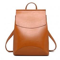 Модерна дамска чанта и раница 2 в 1, изработена от изкуствена кожа, с избор от 12 различни цвята