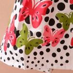 Бебешкa детска рокличкa на сладки полка точки и пеперуди за момиченца от 2 до 4 години