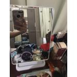 Елегантно козметично огледало със стойка за бюро с 22 ЛЕД  лампички