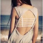 Дамско бюстие с лентички на гърба в два различни цвята