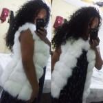 Дамска зимна жилетка яке с джоб, имитация на лисича кожа, 12 различни цвята.