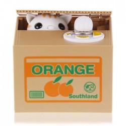 Автоматична касичка за спестяване на монети, котка или панда взимат монетата с лапичка и я прибират на сигурно