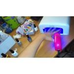 Комплект от 2бр Дълготраен лъскав емайл UV гел лак, топ 1бр + база 1бр, не токсичен 2х10мл