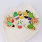 Метална брошка значка изберете от 9 различни вида кактуси, подходящи за украса на блуза, яка, шапка
