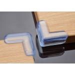 4 броя прозрачни силиконови протектори срещу удар в ръбове на маса и мебели