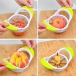Уред за рязане на ябълки с ножове за еднакви резанчета
