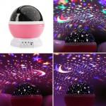 Романтична въртяща се нощна лампа с ЛЕД светлини наподобяващи звездно небе