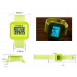 Цветен дигитален ръчен часовник от със силиконова каишка в 4 различни цвята