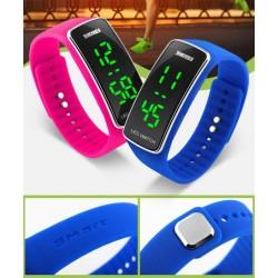 Спортен часовник гривна със силиконова каишка и ЛЕД дисплей унисекс