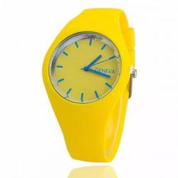 Елегантен цветен часовник със силиконова каишка в 3 различни цвята