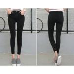 Лятно-есенни женски джинси до глезена с еластични тесни крачоли