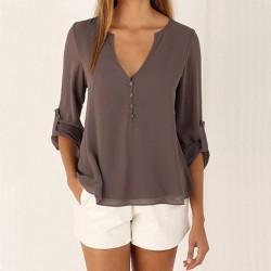 Женска блуза с дълбоко деколте и закопчаване отзад,за   вашето свободно време