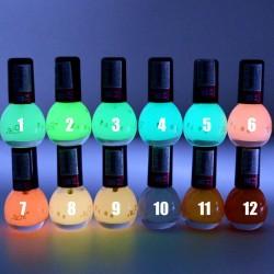 Неонов светещ в тъмното лак за нокти в различни бонбонени цветове